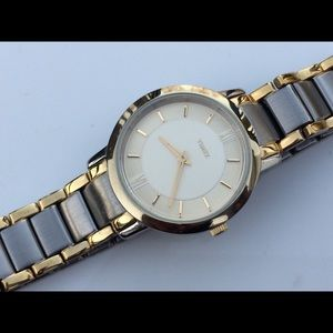 Timex women watch gold/silver tone 3 ATM analog